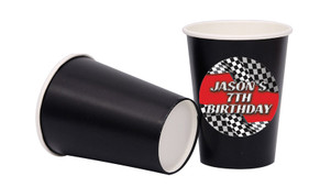 Racing Car Personalised Party Cups