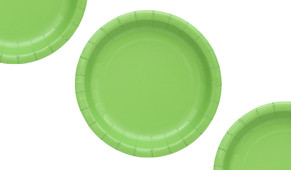 Green Party Plates (12 Pack)