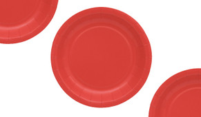 Red Party Plates (12 Pack)