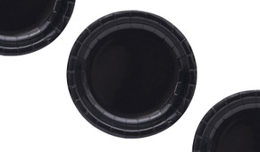 Black Party Plates (12 Pack)