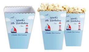 Boats At Sea Personalised Popcorn Boxes