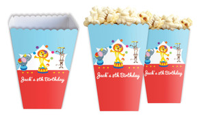 Circus Animals Personalised Popcorn Boxes