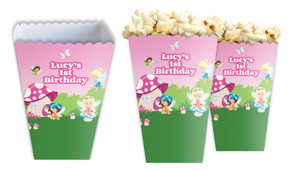Fairy Garden Personalised Popcorn Boxes