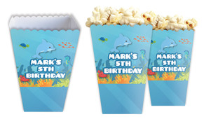 Under The Sea Personalised Popcorn Boxes