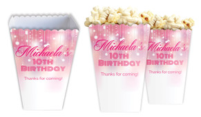 Pink Glam Personalised Popcorn Boxes