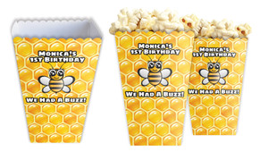 Bumble Bee Personalised Popcorn Boxes