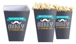Moustache Personalised Popcorn Boxes