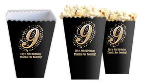 Gold Number Personalised Popcorn Boxes