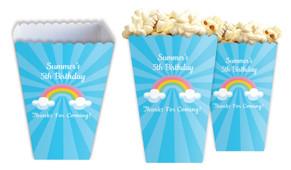 Rainbow Personalised Popcorn Boxes