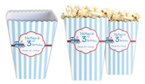 Toy Train Personalised Popcorn Boxes