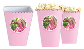 Add A Photo Girls Personalised Popcorn Boxes