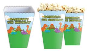 Dinosaur Personalised Popcorn Boxes