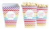 Chevron Rainbow Personalised Popcorn Boxes