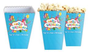 Happy Confetti Personalised Popcorn Boxes