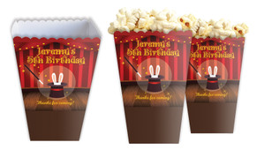 Magician Custom Personalised Popcorn Boxes