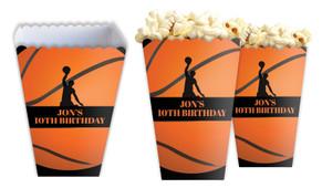 Basketballs Personalised Popcorn Boxes