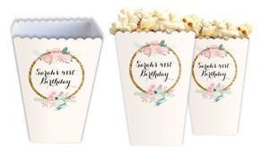 Spring Florals Custom Personalised Popcorn Boxes