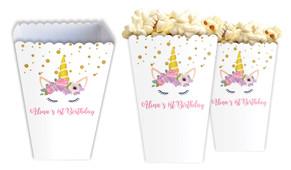 A Pretty Unicorn Personalised Popcorn Boxes