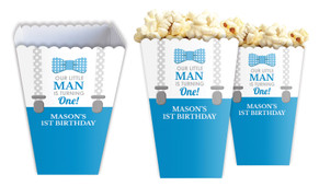 Little Man Personalised Popcorn Boxes