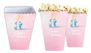 Ballet Shoes Personalised Popcorn Boxes