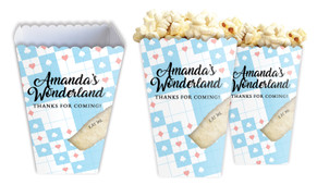 Alice In Wonderland Personalised Popcorn Boxes