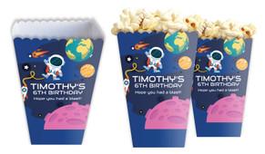 Astronaut Personalised Popcorn Boxes