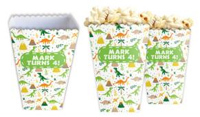 Dinosaur Background Personalised Popcorn Boxes