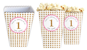 Gold Stars Personalised Popcorn Boxes