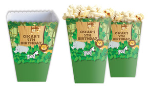 Jungle Animalss Personalised Popcorn Boxes