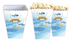 Baby Shark And Family Personalised Popcorn Boxes