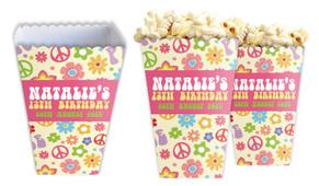 60s Hippie Personalised Popcorn Boxes