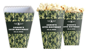 Army Personalised Popcorn Boxes