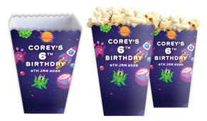 Outerspace Personalised Popcorn Boxes
