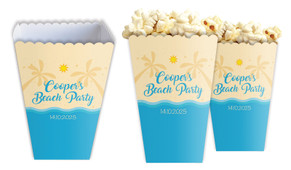 Beach Party Personalised Popcorn Boxes