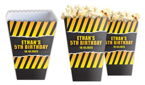 Construction Builders Personalised Popcorn Boxes