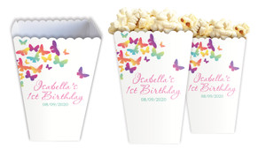 Butterflies Personalised Popcorn Boxes