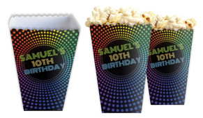 Disco Lights Personalised Popcorn Boxes