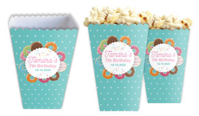 Donut Party Personalised Popcorn Boxes