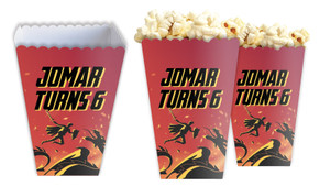 Dragon Personalised Popcorn Boxes