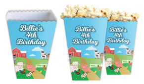 Down The Farm Personalised Popcorn Boxes