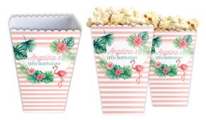 Flamingle Flamingo Personalised Popcorn Boxes
