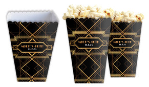 Gatsby Gold Personalised Popcorn Boxes