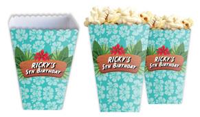 Hawaiian Luau Personalised Popcorn Boxes