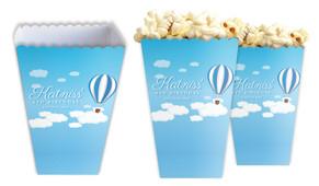 Hot Air Balloon Personalised Popcorn Boxes