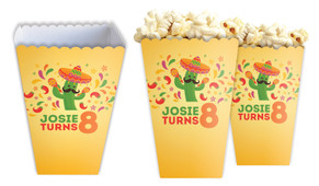 Mexican Fiesta Personalised Popcorn Boxes