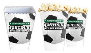 Soccer Personalised Popcorn Boxes