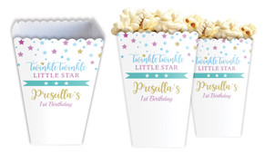Twinkle Star 1st Personalised Popcorn Boxes