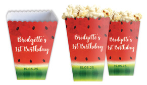 Watermelon Party Personalised Popcorn Boxes
