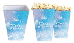 Ice Princess Personalised Popcorn Boxes
