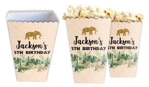 Jungle Gold Personalised Popcorn Boxes